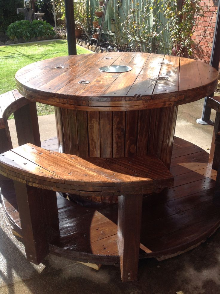 17 best images about diy spools on pinterest rocking for Wire reel table