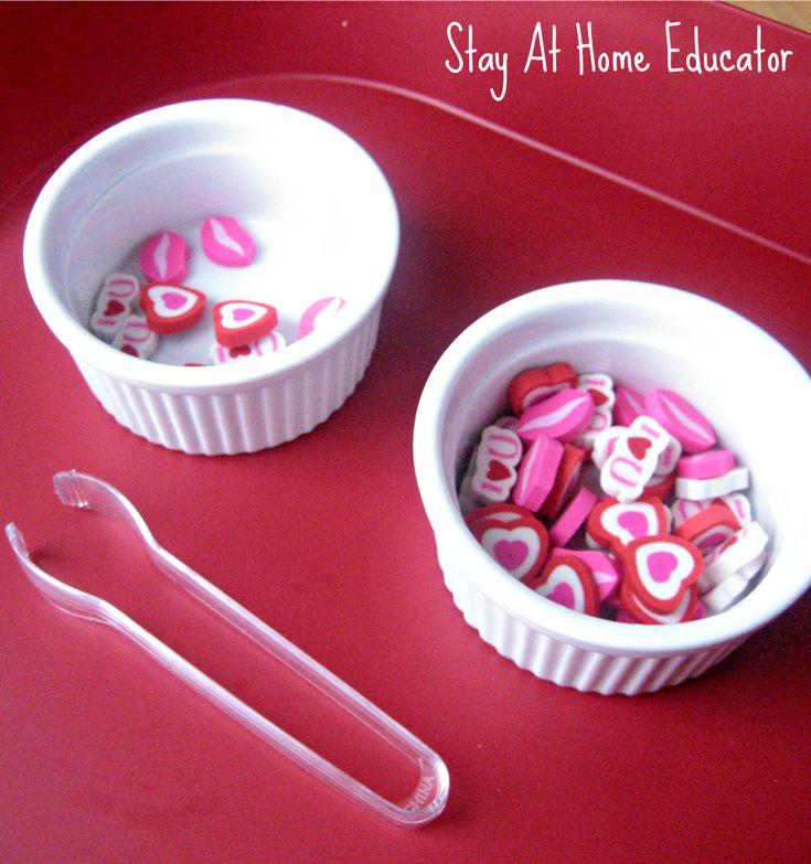 Montessori Inspired Valentine's Preschool Trays