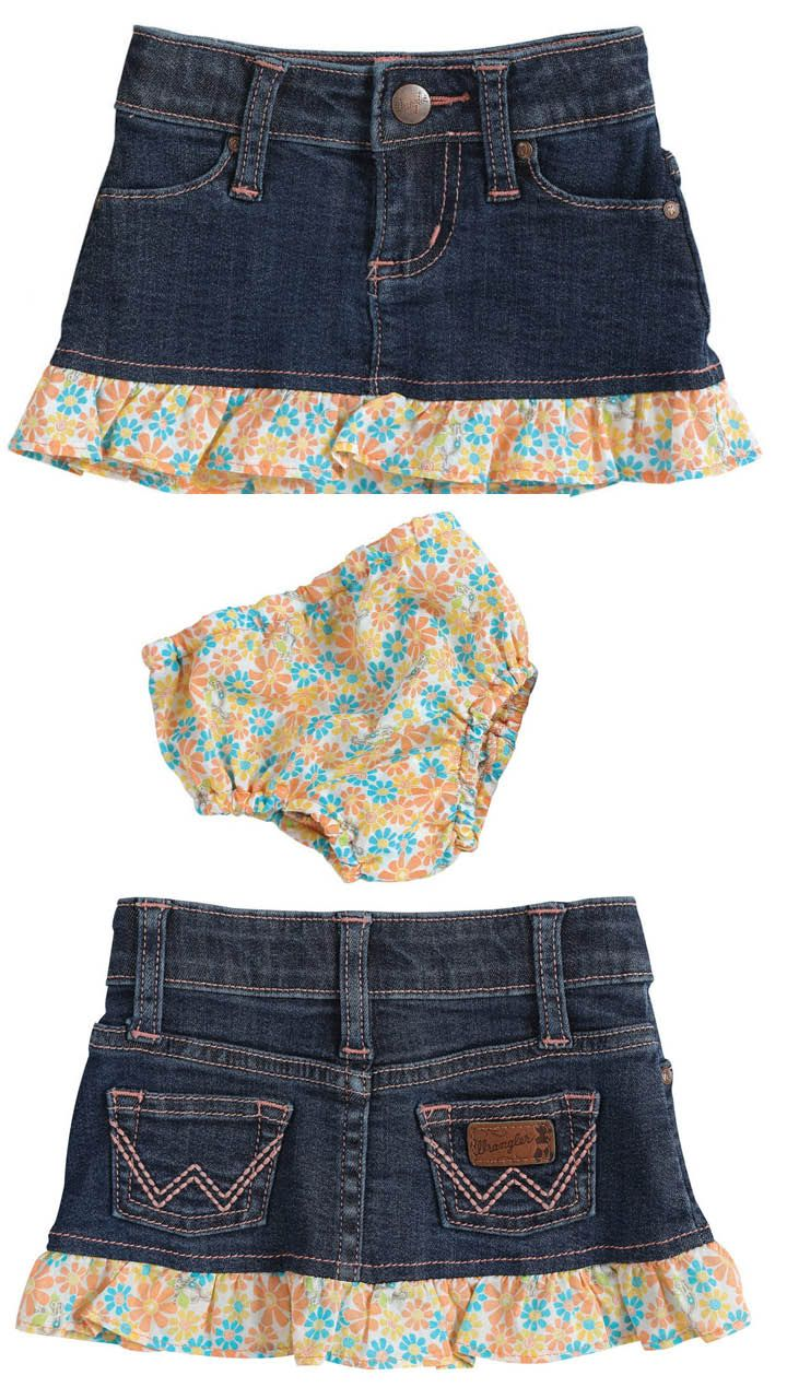 I know a lil' cowgirl who'd look adorable in this #wrangler skirt.