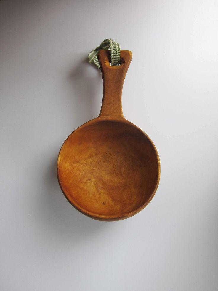 Swedish Saami coffee cup (Kåsa). Vintage. by LeatherAntlerDesign on Etsy