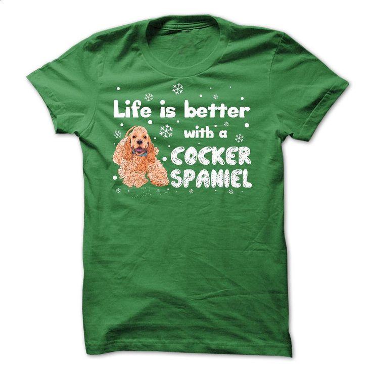 American Cocker Spaniel Better T Shirts, Hoodies, Sweatshirts - #graphic t shirts #orange hoodie. ORDER NOW => https://www.sunfrog.com/Pets/American-Cocker-Spaniel--Better.html?60505