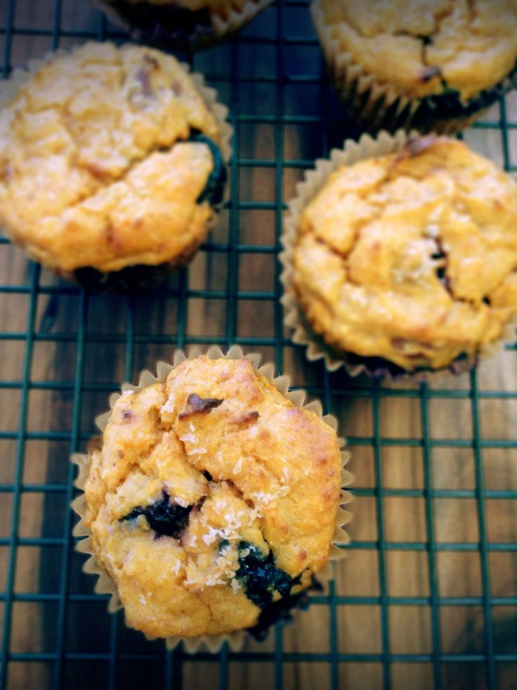Recipe: Sugar-Free Sweet Potato & Blueberry Muffins | The Mindful Foodie | Lesh Karan | Mindful lessons on being nourished