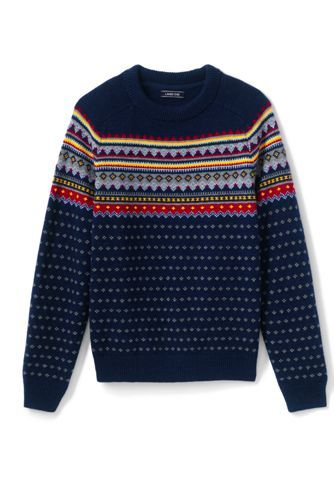 a7e112b4a0e2b Try our Men s Lighthouse Fairisle Crew Sweater at Lands  End. Everything we  sell is Guaranteed. Period.® Since 1963.