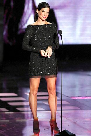 Sandra Bullock - 3 Leg Exercises From Her workout.  Be red carpet ready all year round!