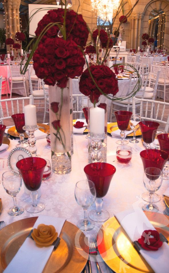 Salamander inspired events, party tablesettings, red flowers, fiery hot