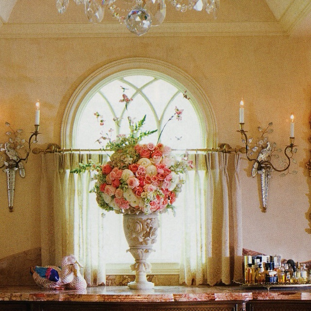 My Beautiful Floral Creation!i put this arrangement together for a photo shoot of my mom's friends bathroom that went in D Homes Mag.