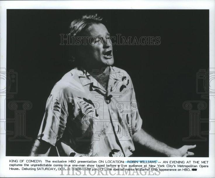 1989 Press Photo Robin Williams On Location  Metropolitan Opera House