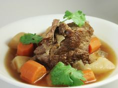 Cambodian Beef Soup with Potatoes & Carrots