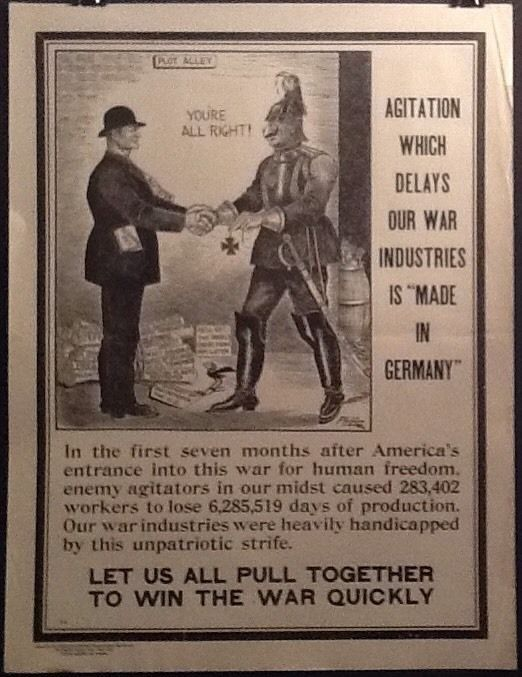 WWI National Industrial Conservation Movement Poster F-9 Home Front Propaganda