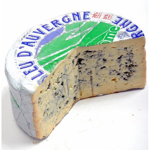 Made from Cow's milk Flavor: Sharp Recommended Wine: Bordeaux, Medoc Bleu d'Auvergne Cheese (Whole Wheel) Approximately 5 Lbs