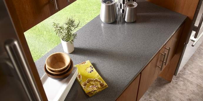 Corian® Graylite countertop | Kitchen obsession