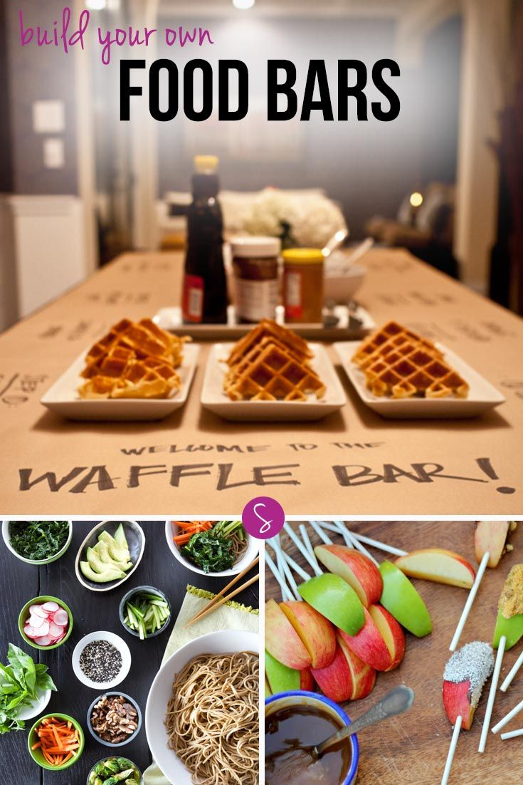 """We've rounded up 26 of the most fabulous """"Build Your Own"""" food bars we could find, so all you have to do is decide which one will wow your guests the most!"""