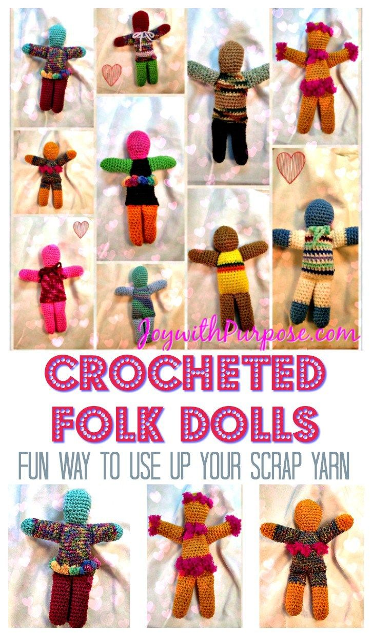 Free crochet pattern: Folk Dolls by Joy with Purpose