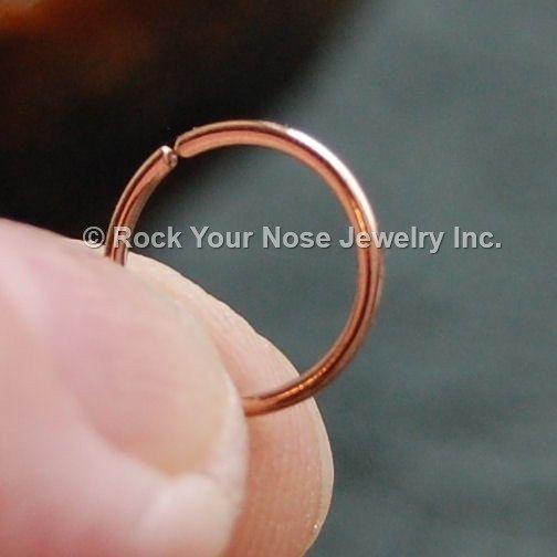 Rose Pink Gold Nose Ring/Solid 14 Karat Gold Nose by RockYourNose