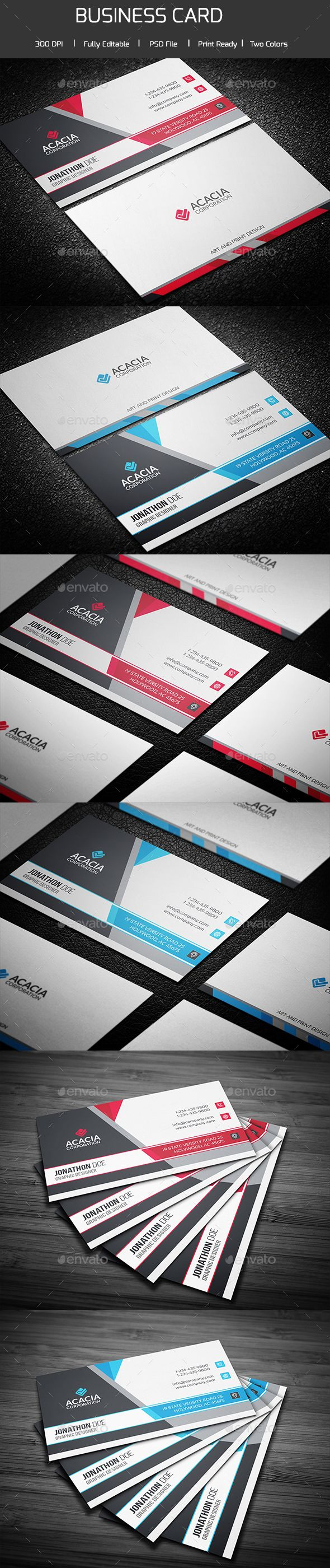 Business Card Template PSD. Download here: http://graphicriver.net/item/business-card/14780285?ref=ksioks