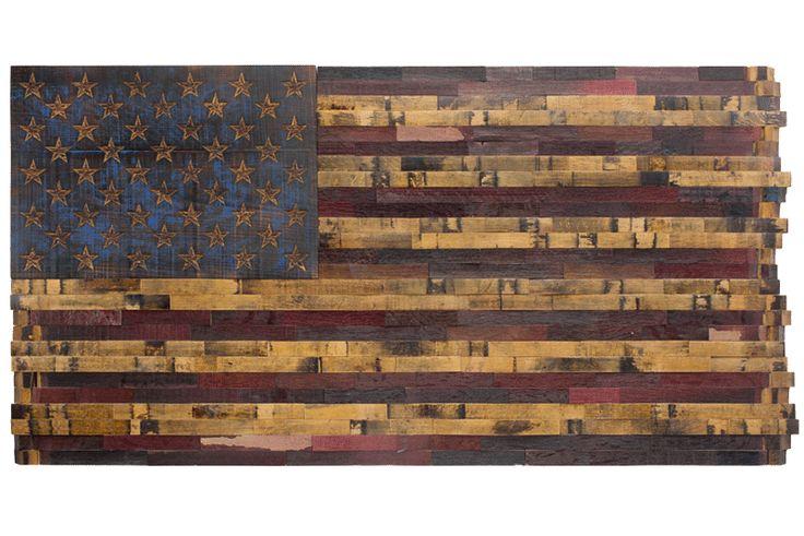 The Heritage Flag Company custom flags from bourbon barrels  theheritageflag.com