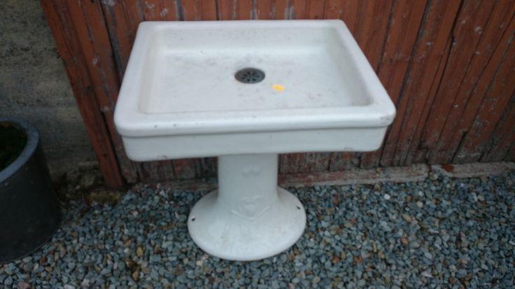 Déco loft lavabo lave main sur colonne ancien - maison/meuble ancien vaisselle brocante - magic-affaires-22