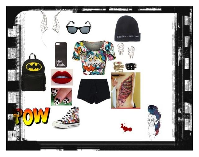 """BFF"" by persassyness ❤ liked on Polyvore featuring CO, Wet Seal, Disney, T By Alexander Wang, Converse and The Gem Palace"