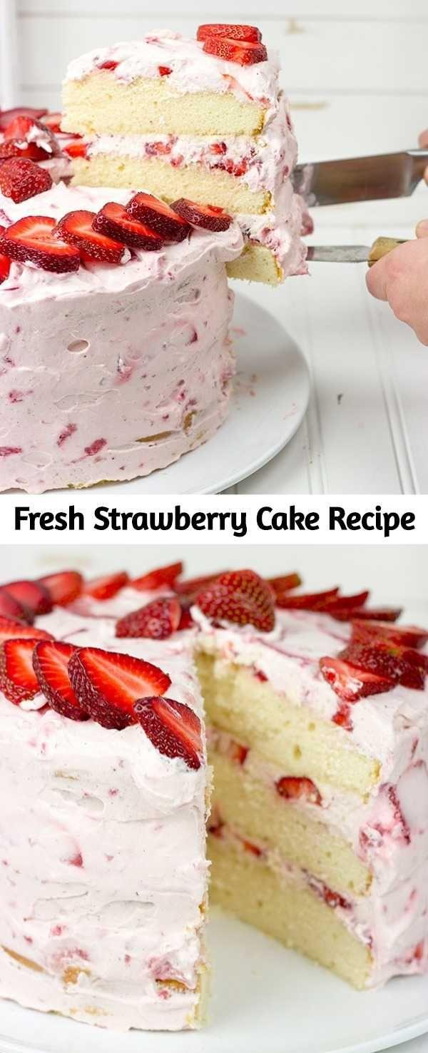 Fresh Strawberry Cake Recipe – Mom Secret Ingredients