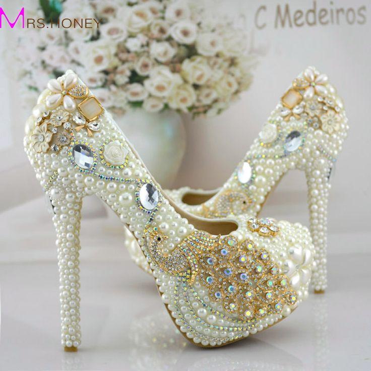 Phoenix Strass Prom Party Schuhe Frauen Modellierung Event Schuhe Funktion Schöne High Heels Perle Braut Hochzeit Kleid Schuhe //Price: $US $95.20 & FREE Shipping //     #clknetwork