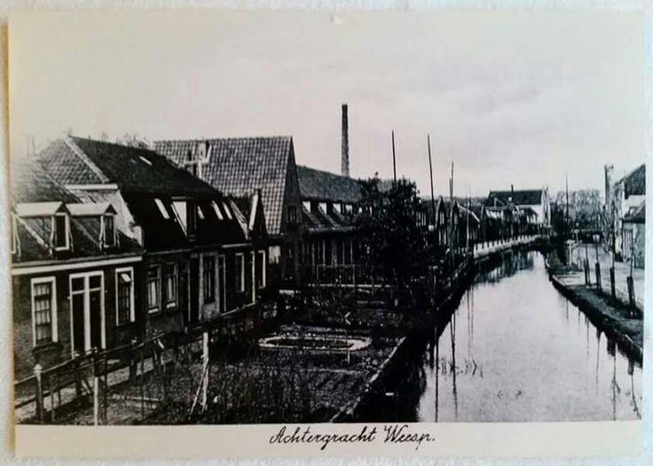 Achtergracht in Weesp van voor 1960