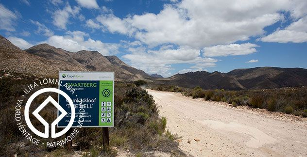 Swartberg Nature Reserve (incorporating Gamkaskloof and Die Hel) was declared a World Heritage site in 1997, and stretches 121 000 hectares in the Karoo