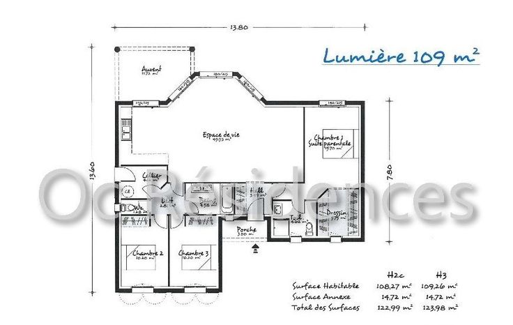 Plan de maison contemporaine #ocresidences #constructeurmaisonsindividuelles #occitanie #tarn # ...