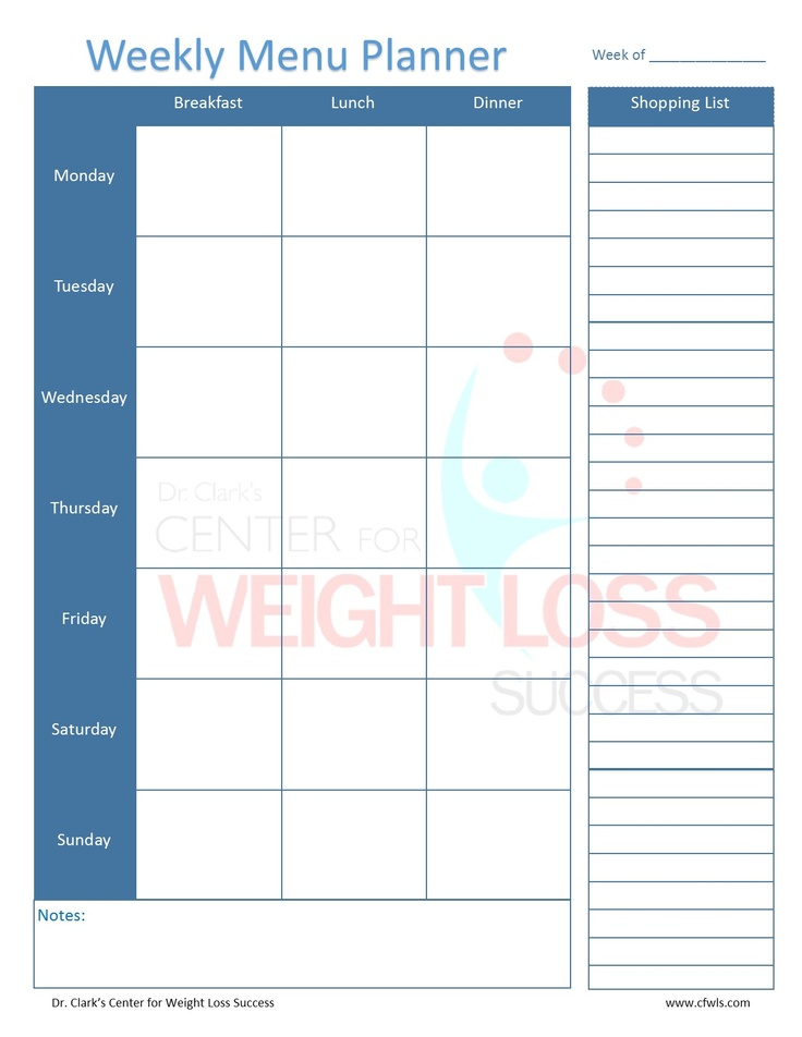 weekly menu planner with shopping list  start with your