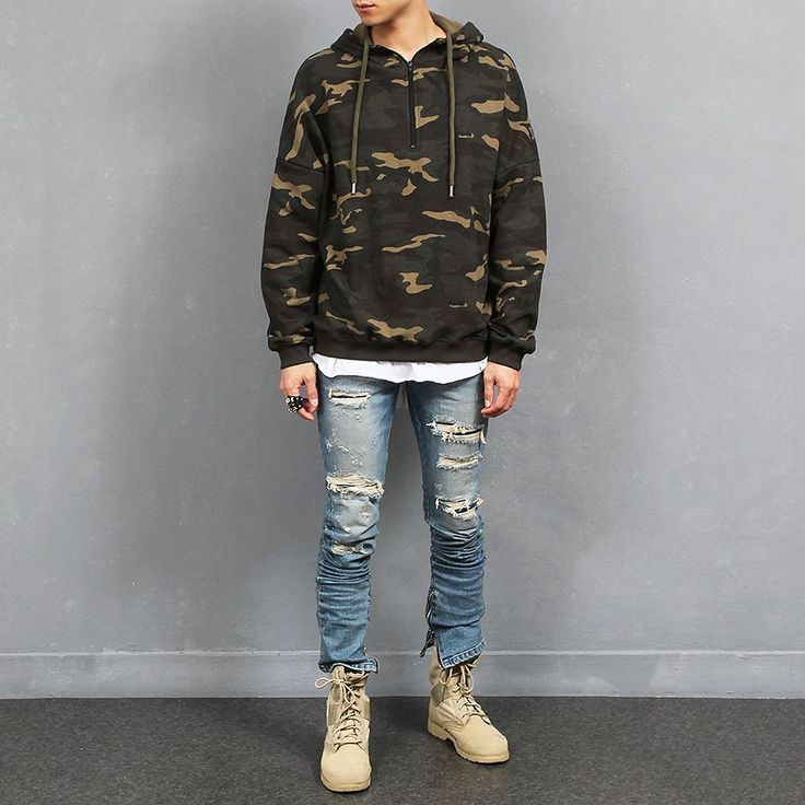 The product Loose Fit Camouflage Half Zip Up Hoodie Streetwear Hoddie is sold by SNEAKERJEANS STREETWEAR SHOP & SNEAKERS SHOP in our Tictail store.  Tictail lets you create a beautiful online store for free - tictail.com