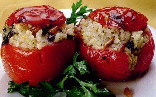 Pomodori ripieni di riso - Microonde