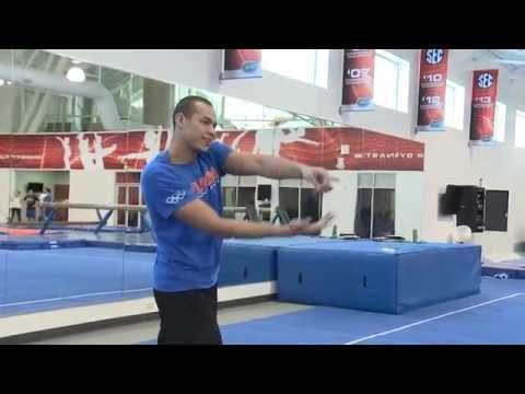 ▶ Florida Letterman Awards: Gymnastics Experience - YouTube - Funny video of UF football players trying out the gymnastics world!