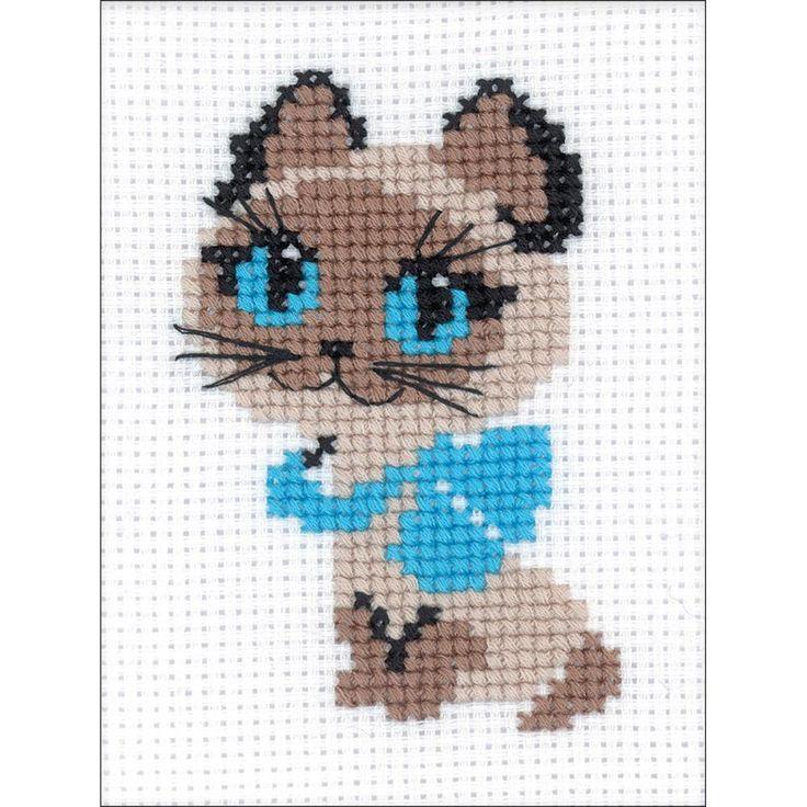 Kitten Counted Cross Stitch Kit