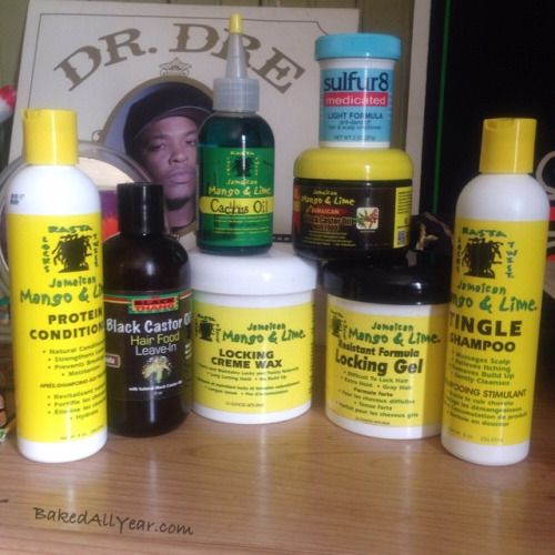 Jamaican Mango & Lime Tingle Shampoo and Protein Conditioner. Locking Creme Wax and Locking Gel for when I get a retwist. I've been using the 'It's a Black Thang' Black Castor Oil Hair Food leave in for a few weeks and I must say my roots have grown in very fast. The Cactus Oil keeps my dry scalp moisturized well and now I have my own to use. Sulfur8 Light Formula, this is for those extremely dry scalps. #Locs #MenWithLocs #Dreadlocks #LocCare #JamaicianMangoAndLime #Hair #HairProducts