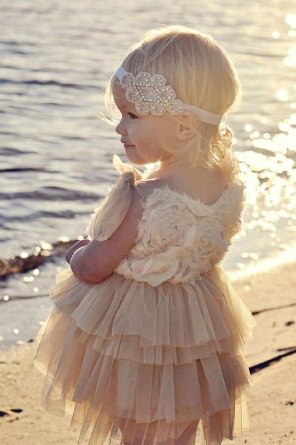 Adorable Beach Flower Girl Dresses - Beach Wedding Tips