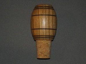Bouchon en bois tourné avec liège pour bouteille