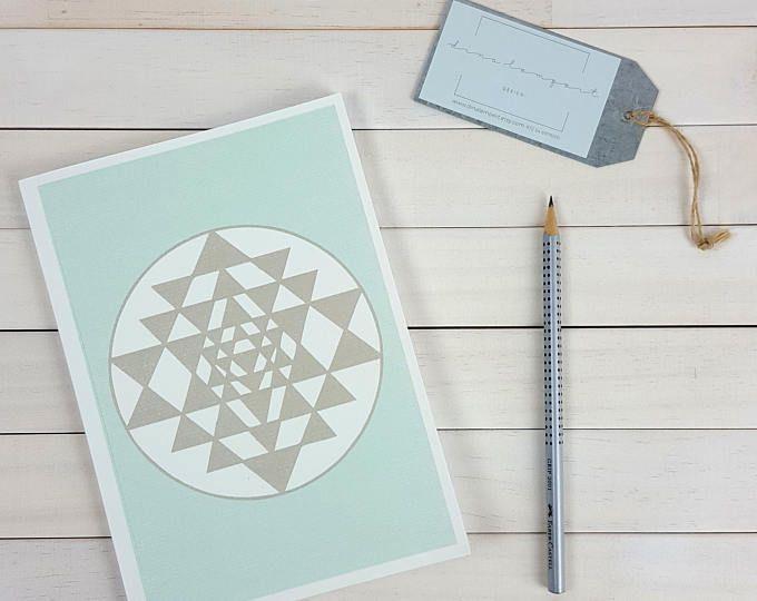 Sri Yantra A5 notebook, papelería de la escuela. Símbolo hindú sagrado inspirador regalo para profesor de Yoga, diario para personal y citas de meditación