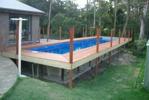 Fibreglass lap pools inground above ground fiberglass for Modular lap pool