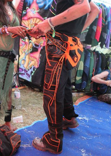 mens rave festival pants