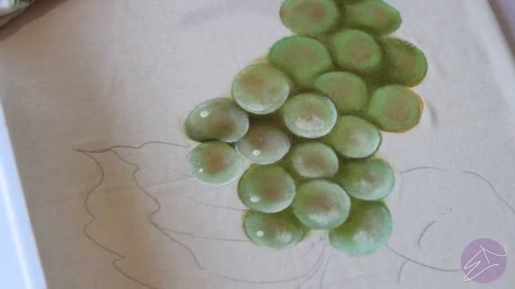 Pintura em tecido Eliane Nascimento: Como eu pinto uvas verdes