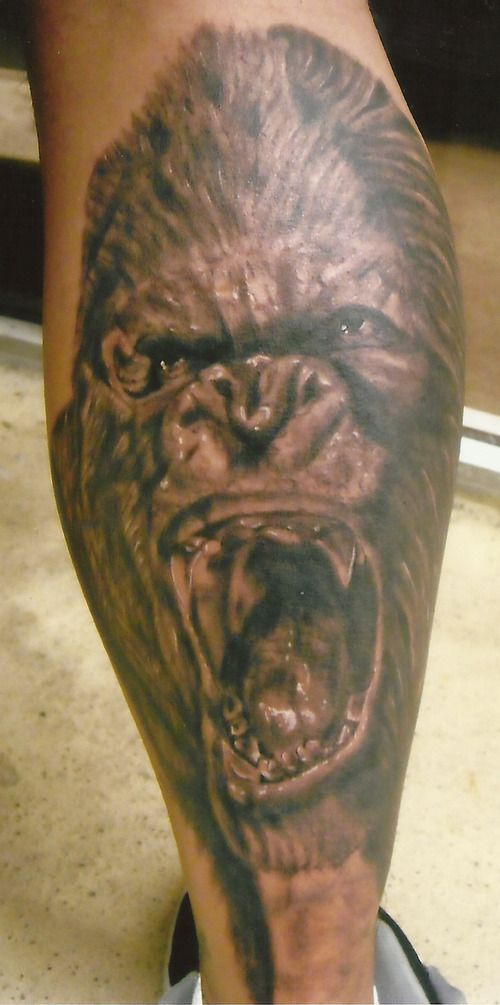 41 best king kong tattoos images on pinterest king kong tattoo ideas and animal tattoos. Black Bedroom Furniture Sets. Home Design Ideas