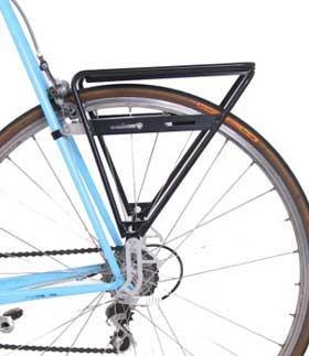 Ejemplo de montaje Sherpa Rear en bicicleta de carretera