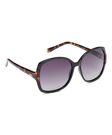 Loving this Black Polarized Base 6 Large Square Sunglasses on #zulily! #zulilyfinds