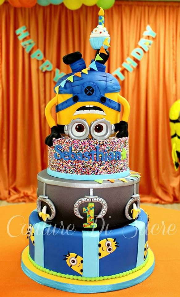 157 best images about alessandrio 1st minion birthday on pinterest - Cake decorations minions ...