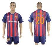 Barcelona FC 17-18 home soccer kits 05