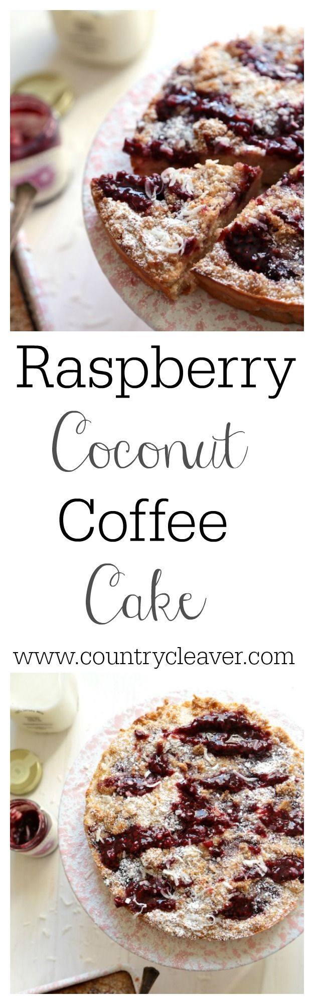 Raspberry Coconut Coffee Cake