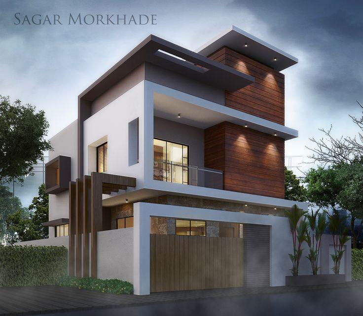 Modern Residential Exterior By Ar Sagar Morkhade: 1080 Best Fachadas De Casas Modernas, Minimalistas