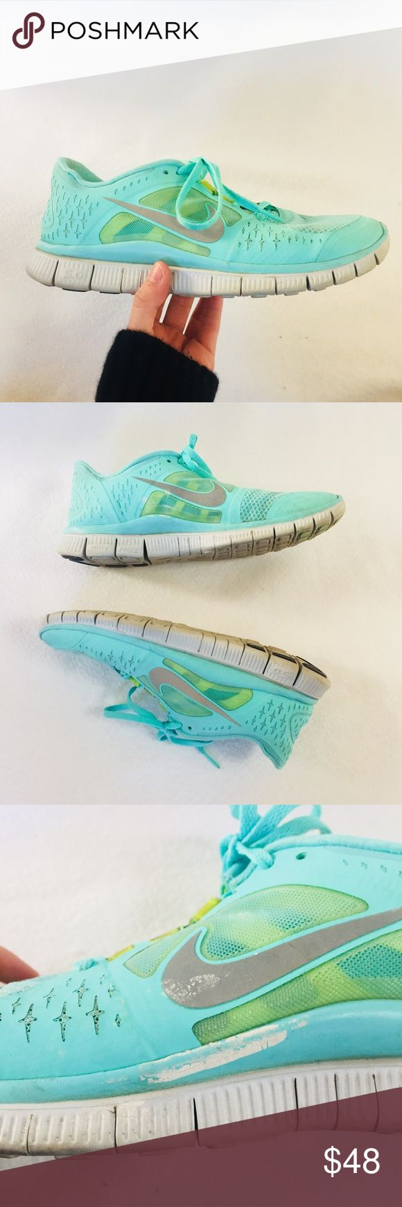✨ tiffany blue nike free runners 🏃‍♀️ extremely rare and hard to find! super stylish and lots of miles left. some white scuffs on side but virtually u noticeable when wearing. otherwise in great condition ✨🏃‍♀️👟 Nike Shoes Sneakers
