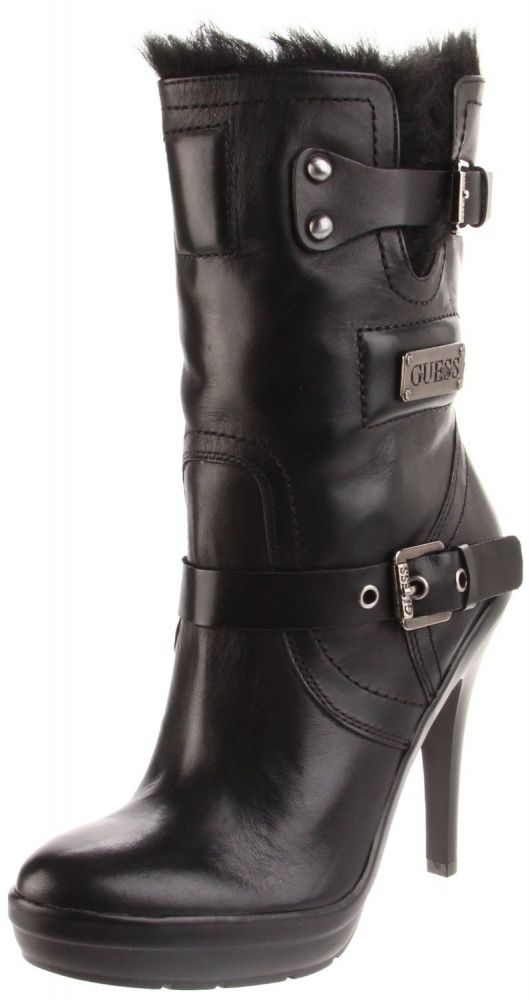 Women's #Fashion #Shoes: Guess Women's Benny Platform Black #Boots: Boot