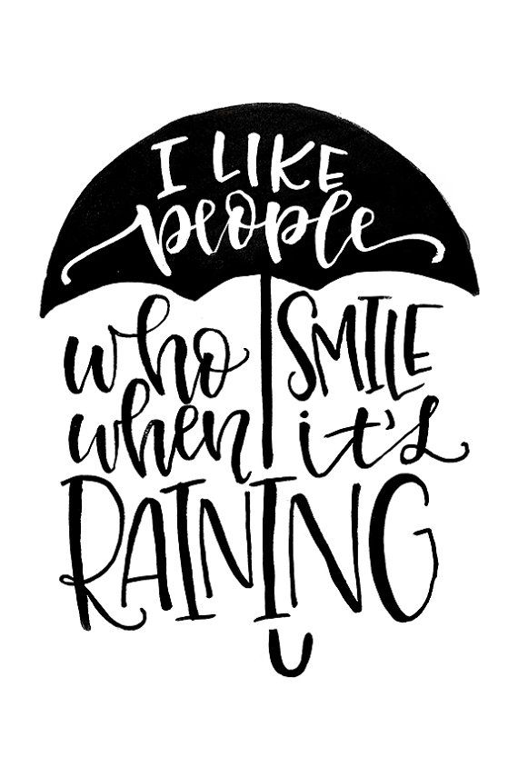 I like People who Smile when it's Raining Quote Printable by MiniPress