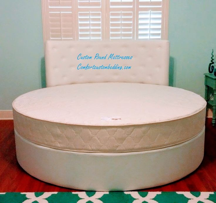 Round mattresses made custom by Comfort Custom Mattresses & Marine Bedding INC.